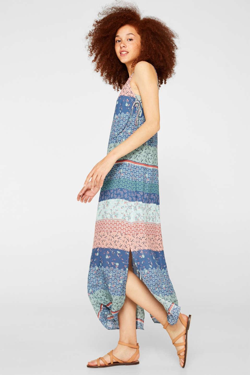61b1ad77 edc - Maxi-kjole med snøreeffekter i Esprits Online-Shop