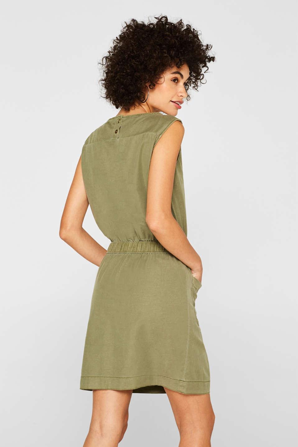 Dresses light woven, KHAKI GREEN, detail image number 2