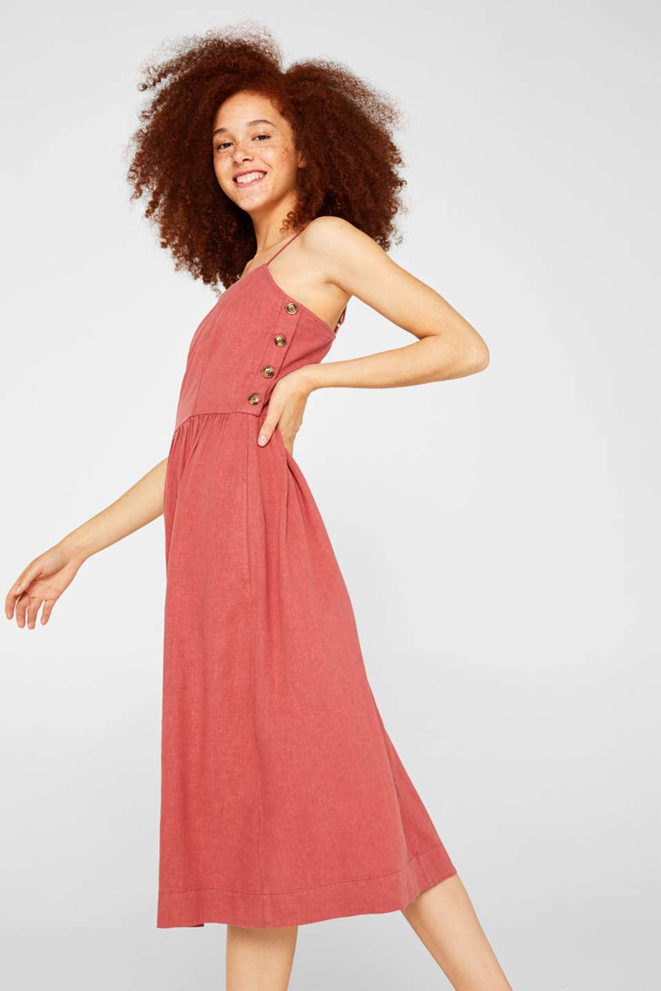 Dresses light woven, TERRACOTTA, detail image number 4