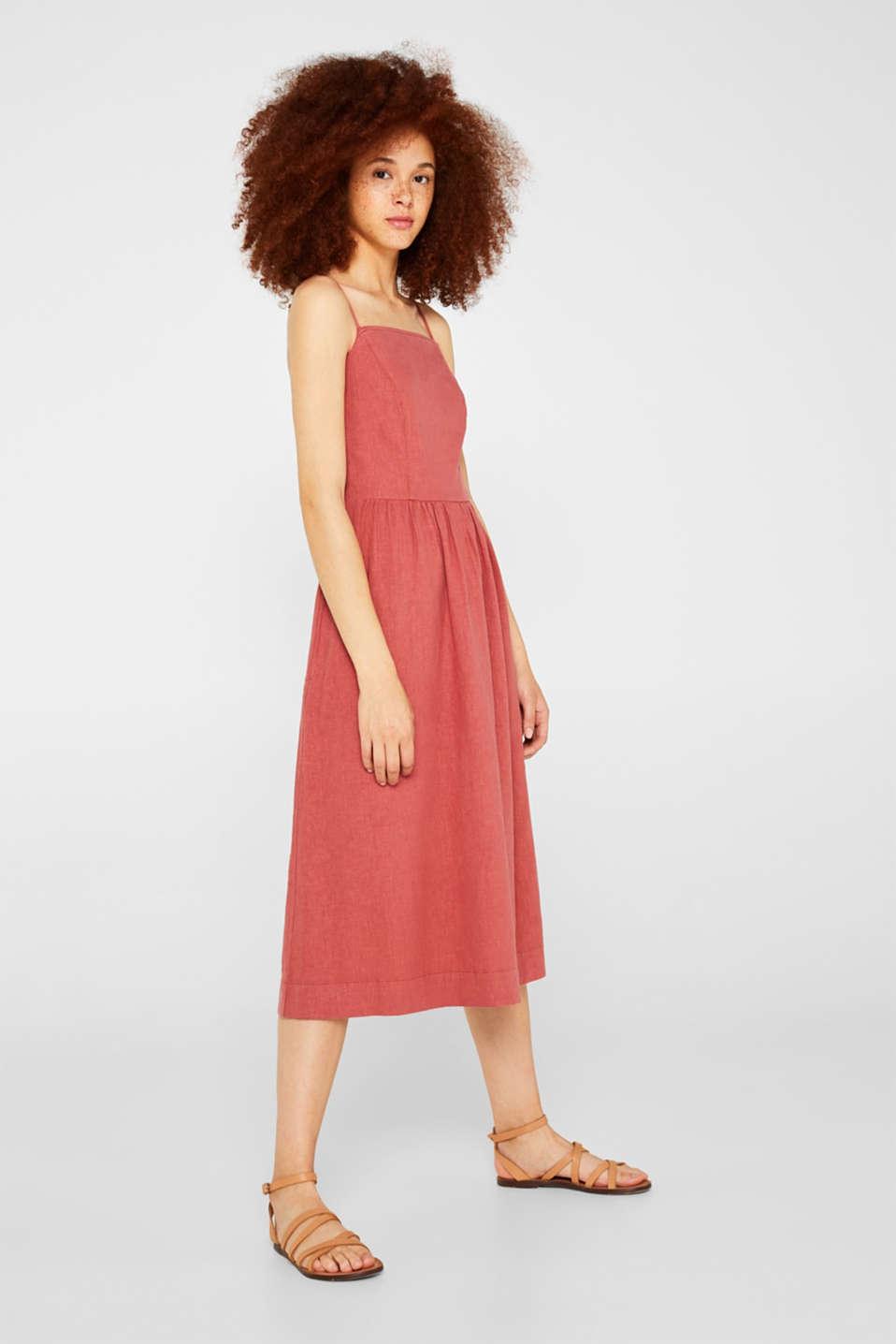 Dresses light woven, TERRACOTTA, detail image number 1