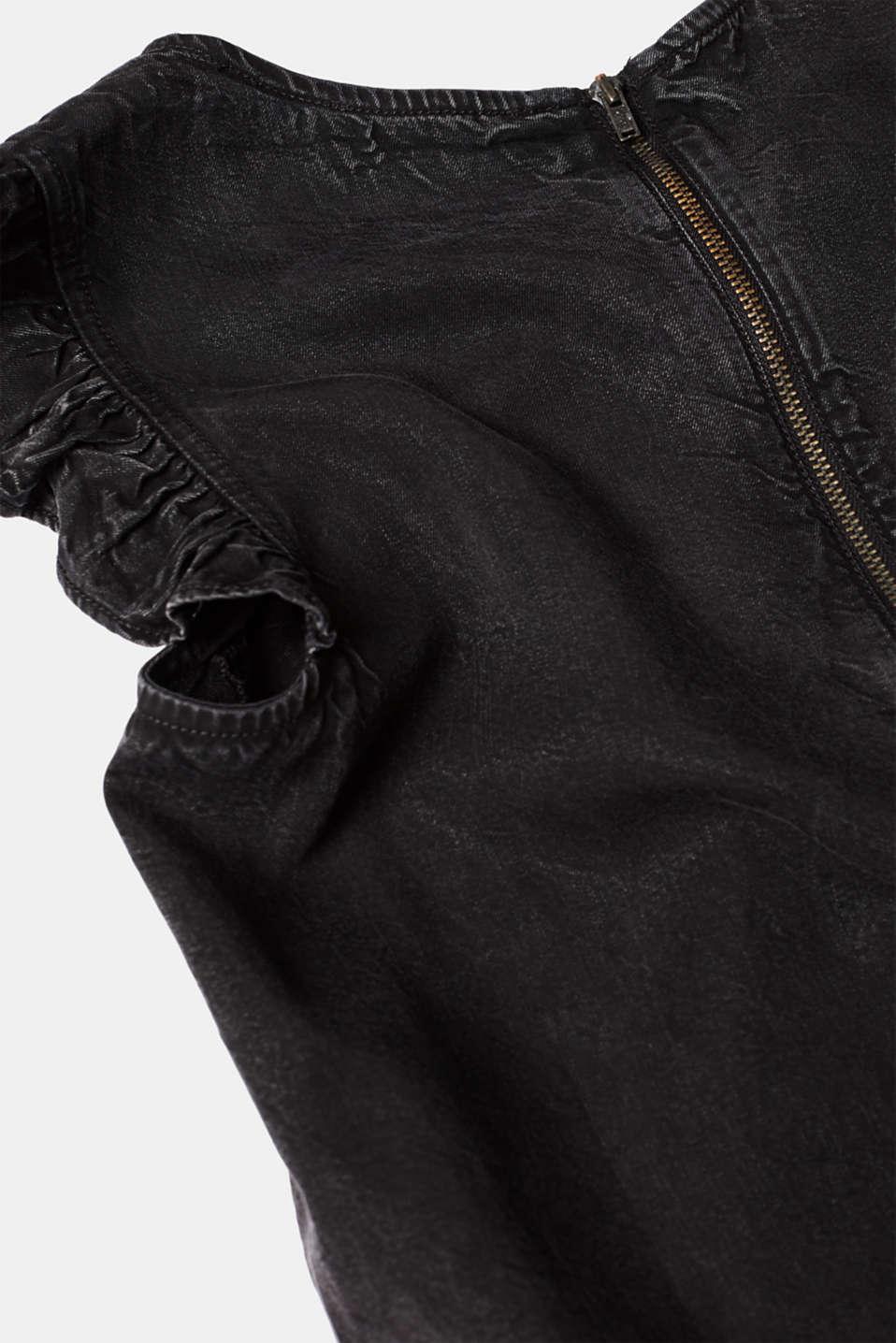 Dresses denim, BLACK DARK WASH, detail image number 5
