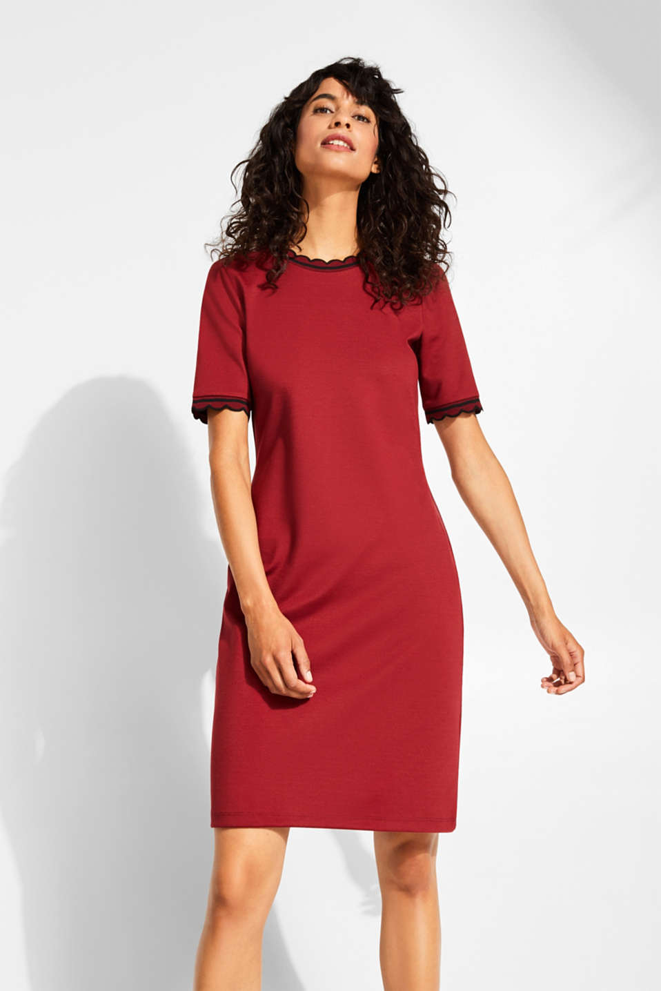edc - Kleid aus festem Jersey-Stretch