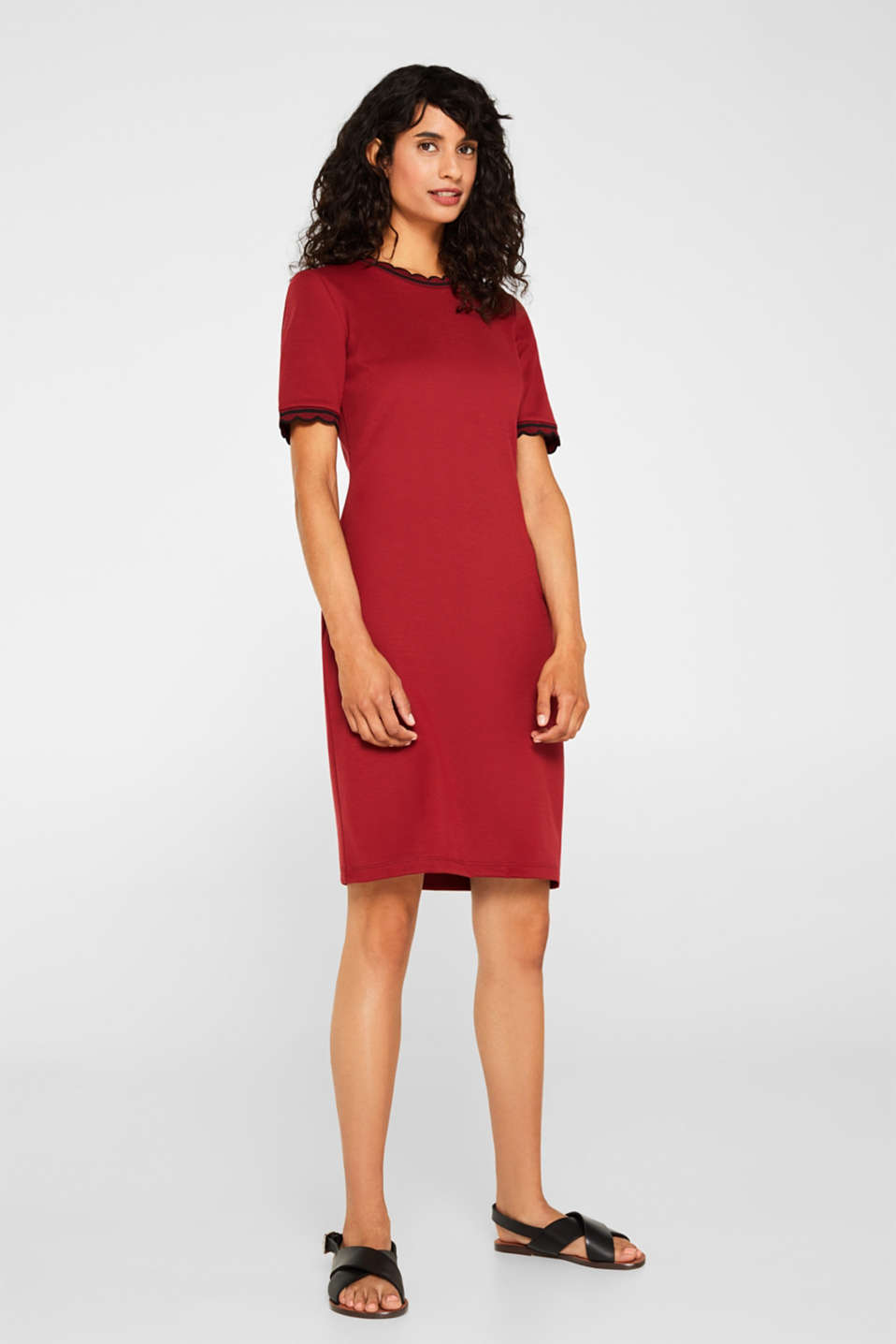 Dresses knitted, BORDEAUX RED, detail image number 1