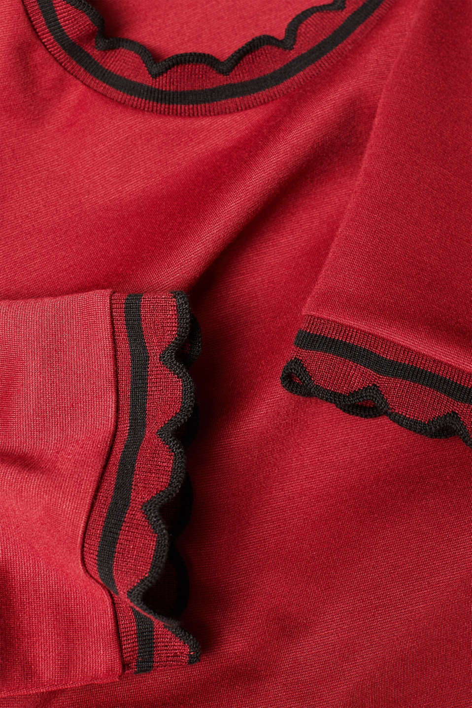 Dresses knitted, BORDEAUX RED, detail image number 4