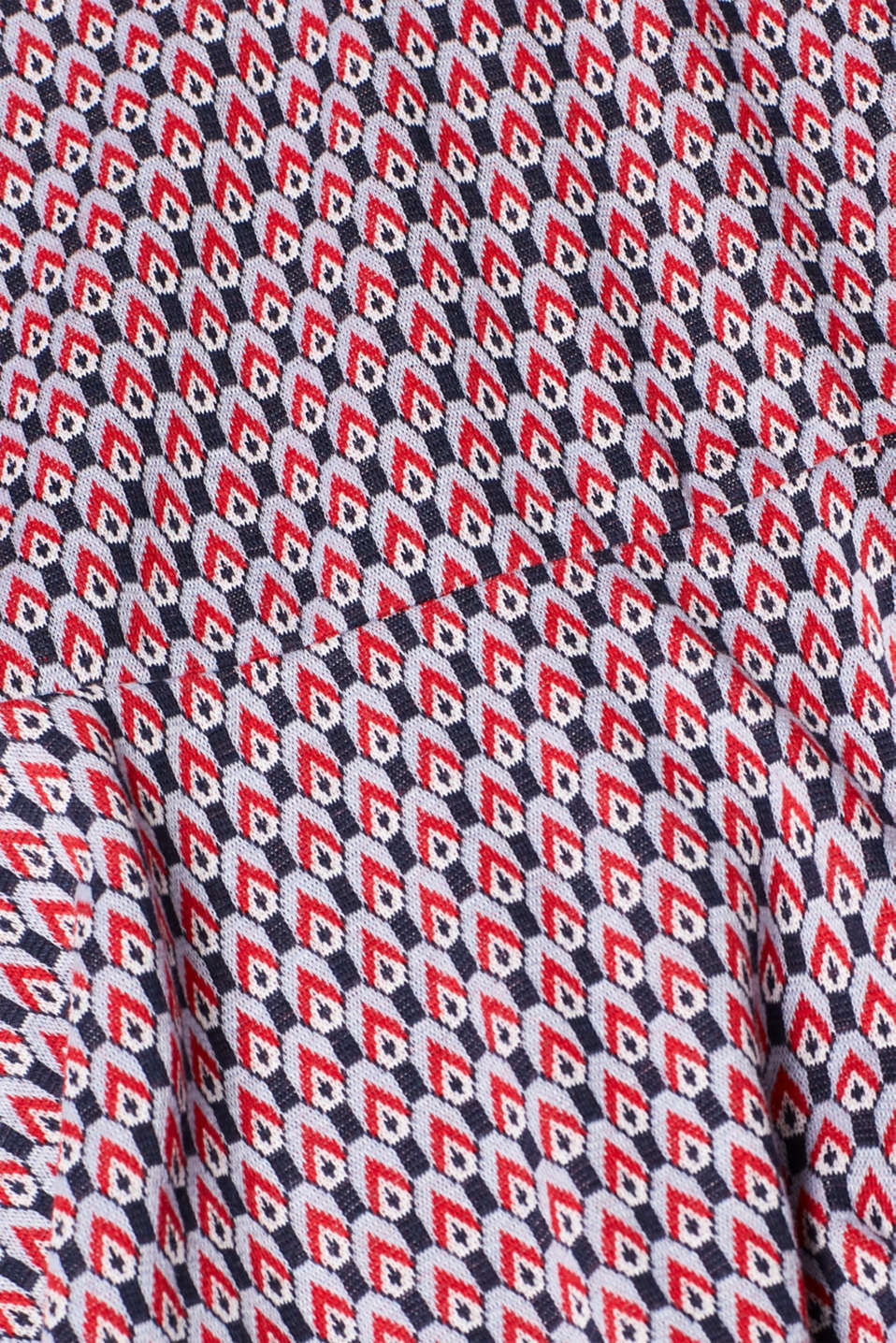 Patterned jersey dress with a polo collar, NAVY, detail image number 4