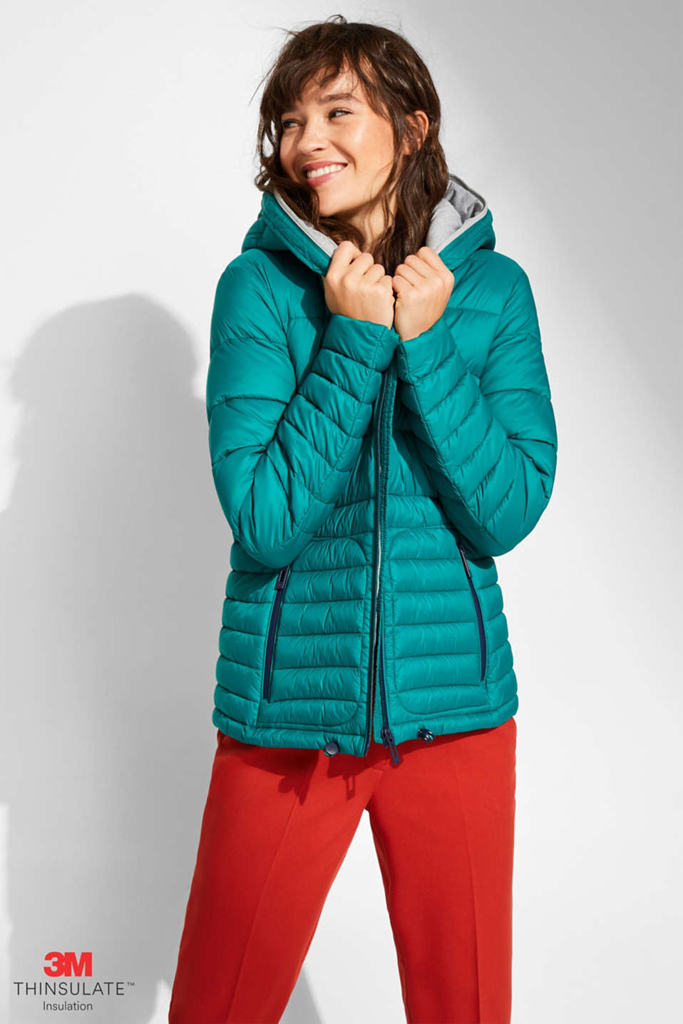 Quilted jacket with 3M™ Thinsulate™ filling, EMERALD GREEN, detail image number 0