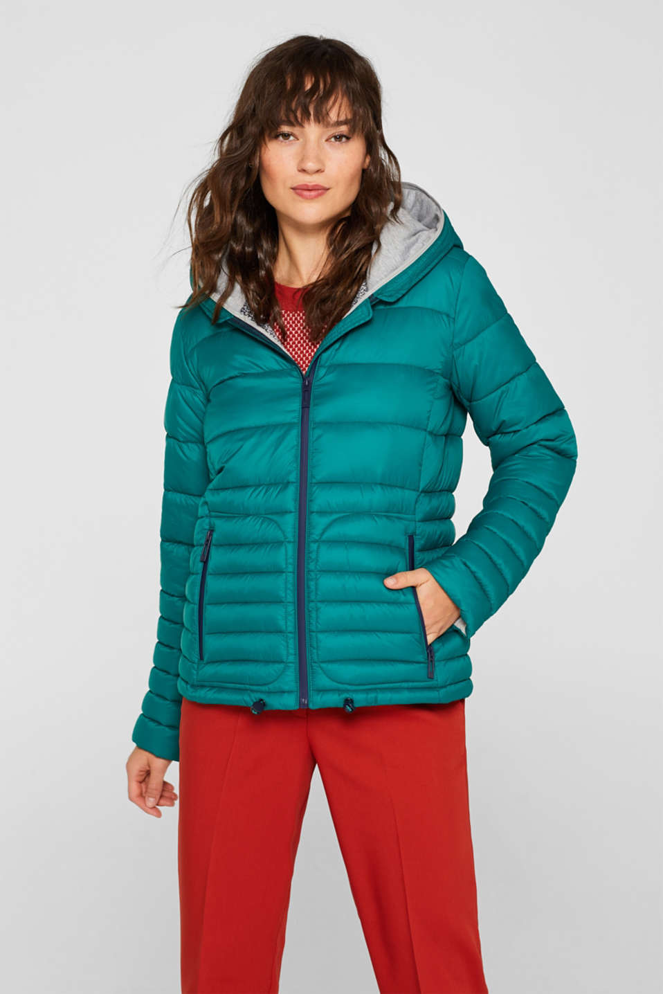 Quilted jacket with 3M™ Thinsulate™ filling, EMERALD GREEN, detail image number 5