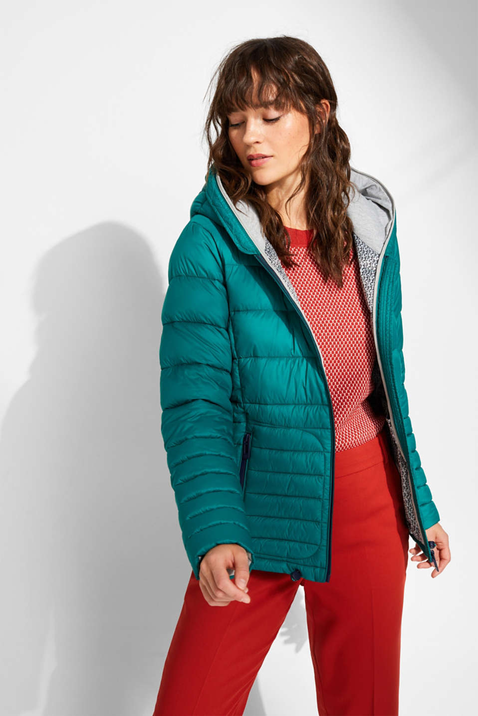 Quilted jacket with 3M™ Thinsulate™ filling, EMERALD GREEN, detail image number 6