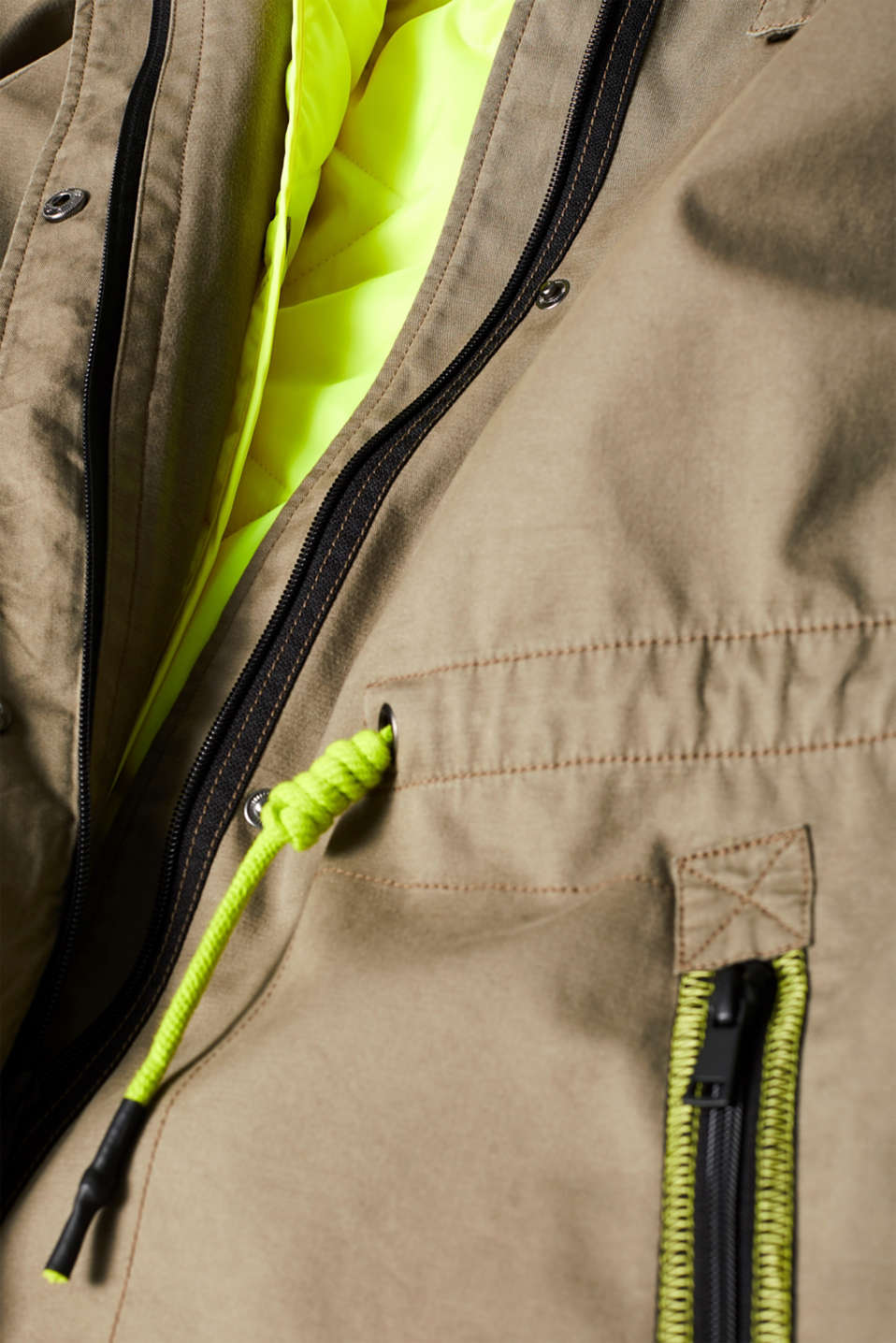 Coats woven, KHAKI GREEN, detail image number 4