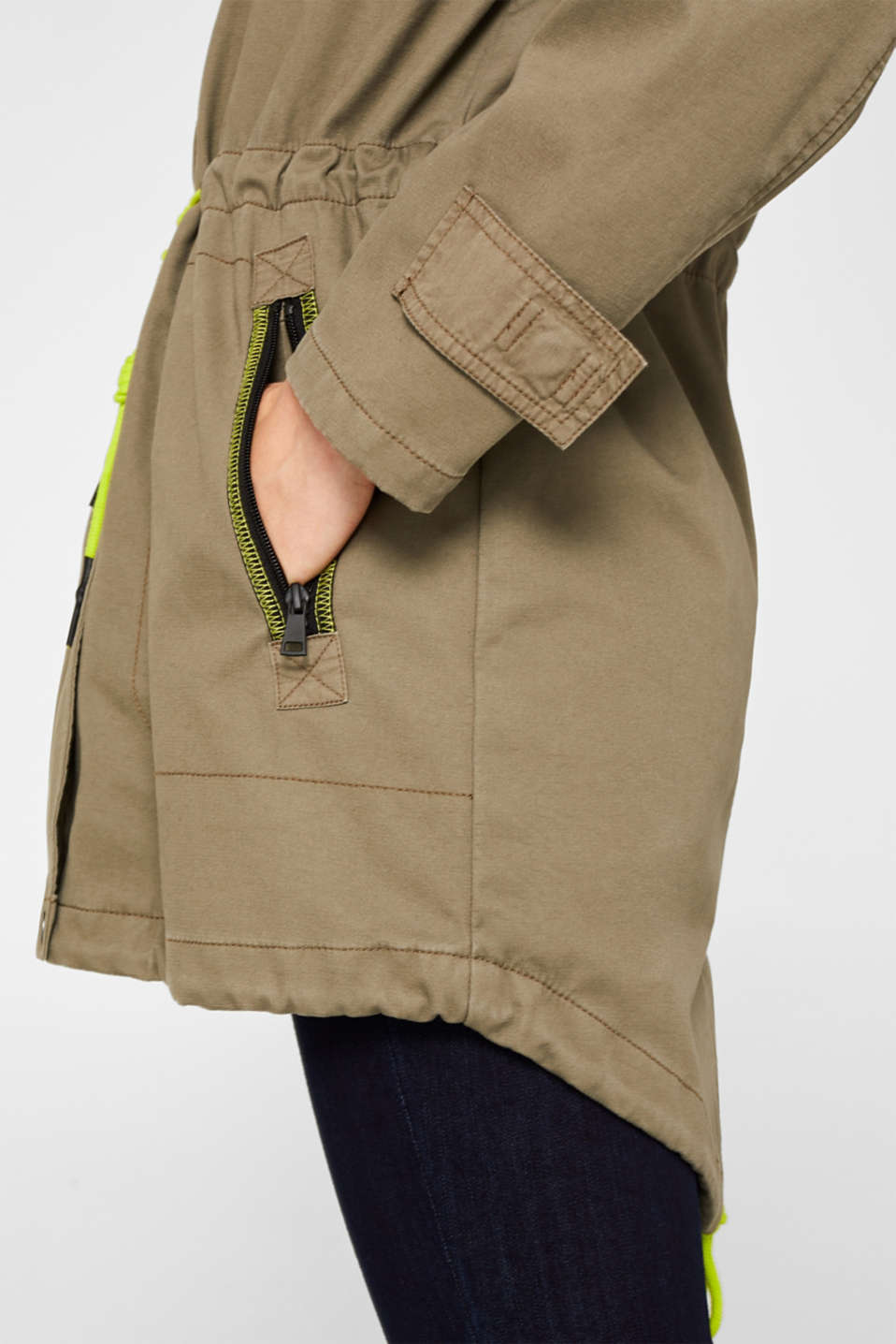 Coats woven, KHAKI GREEN, detail image number 5