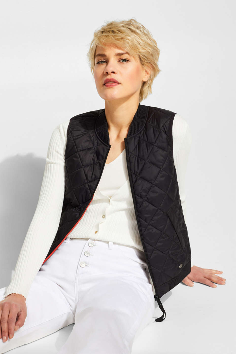 Vests outdoor woven, BLACK, detail image number 0