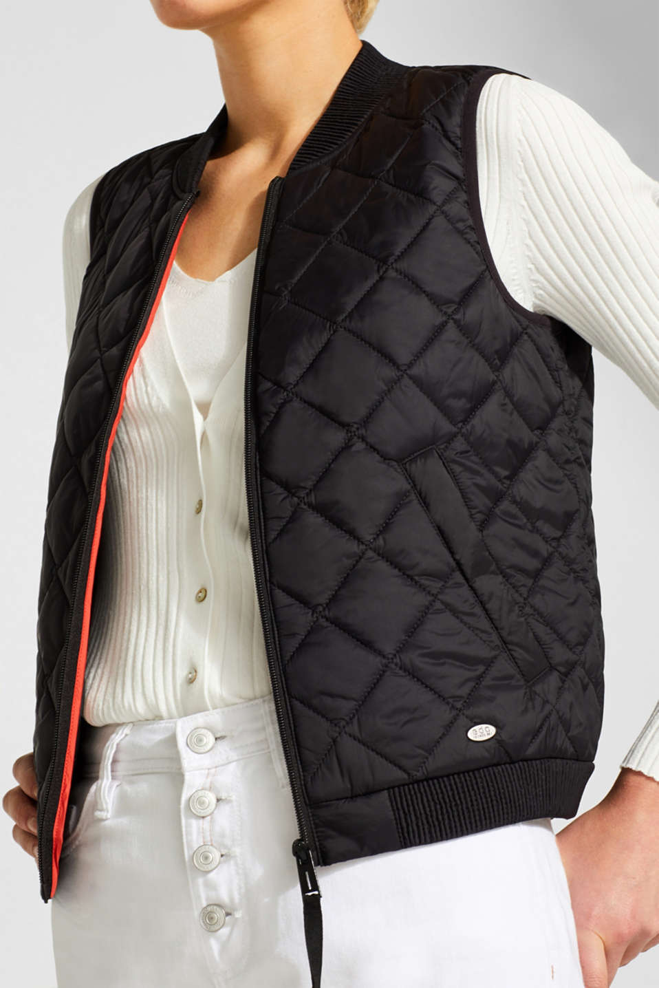 Vests outdoor woven, BLACK, detail image number 2