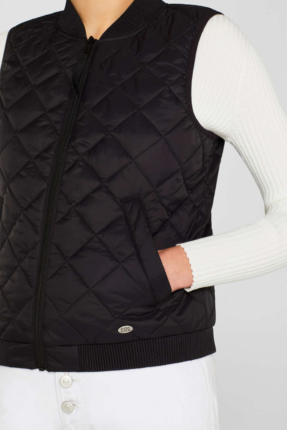 Vests outdoor woven, BLACK, detail image number 6