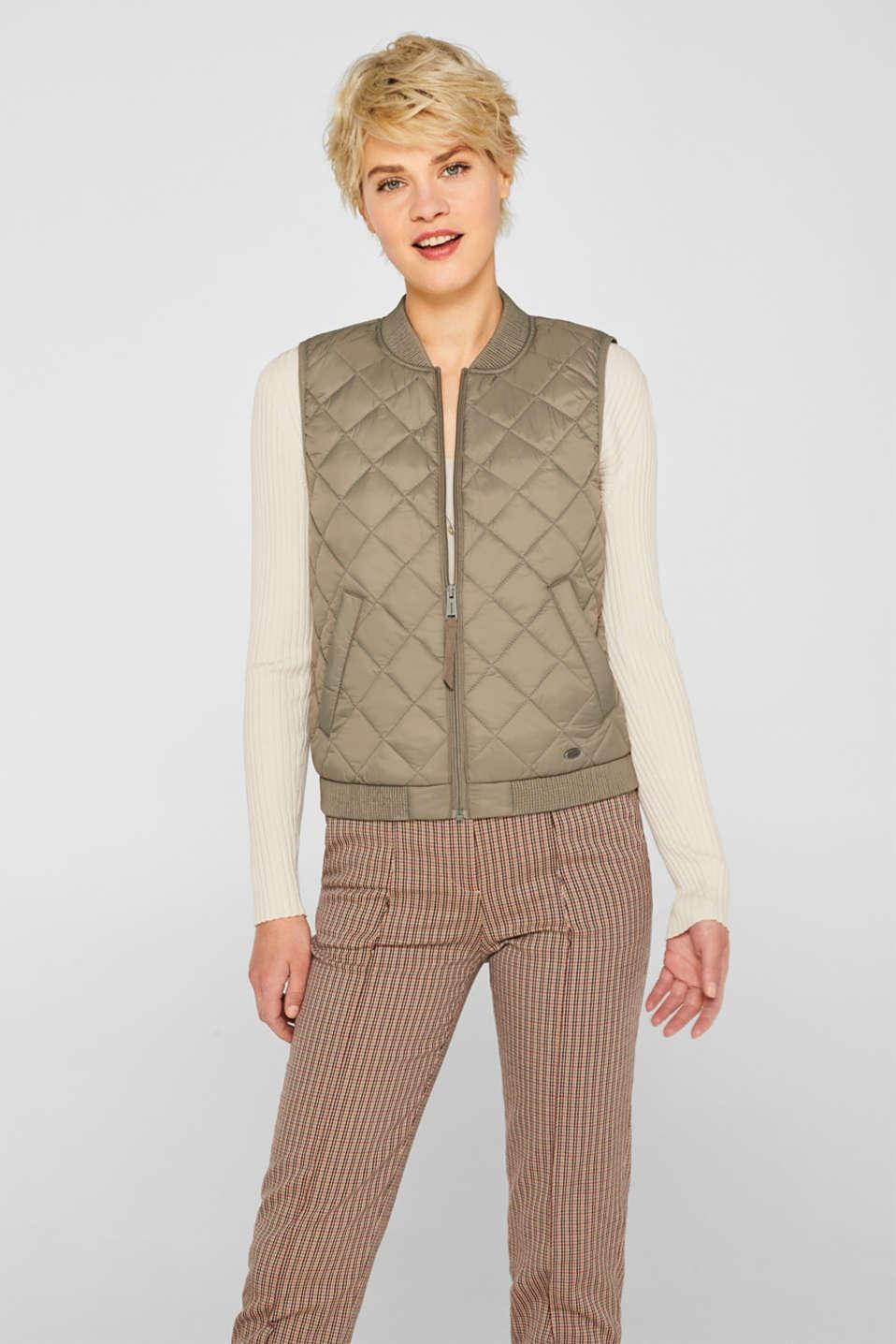 Vests outdoor woven, LIGHT KHAKI, detail image number 5