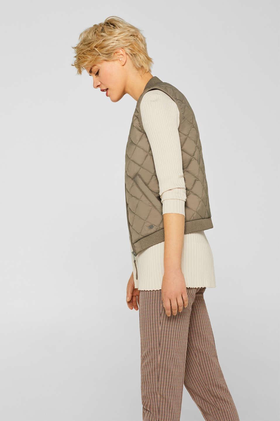 Vests outdoor woven, LIGHT KHAKI, detail image number 6
