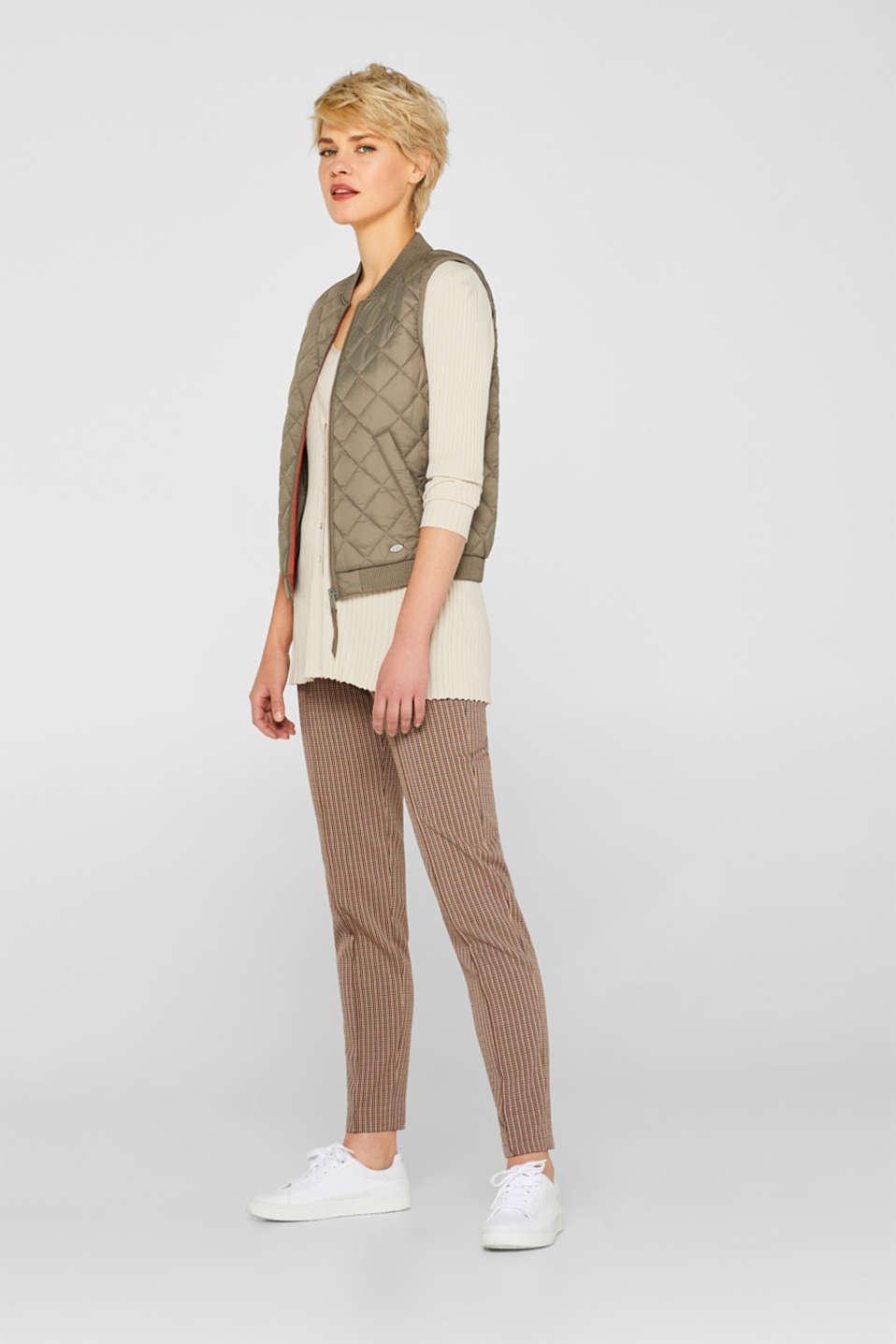 Vests outdoor woven, LIGHT KHAKI, detail image number 1