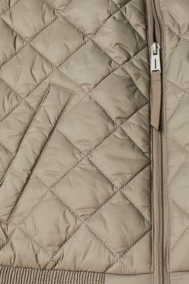 Lightweight quilted body warmer with smocked trims