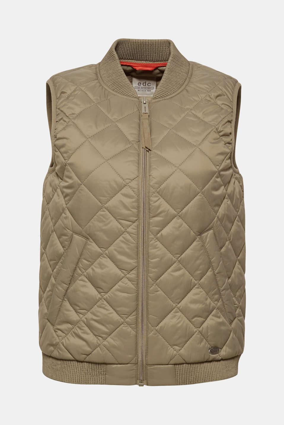 Vests outdoor woven, LIGHT KHAKI, detail image number 8