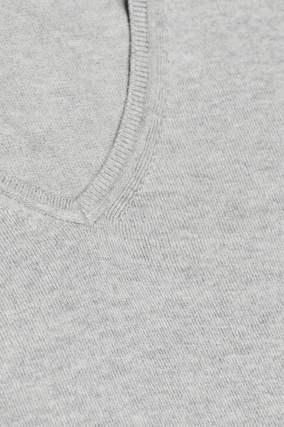 Jumper, organic cotton, LIGHT GREY 5, detail image number 4