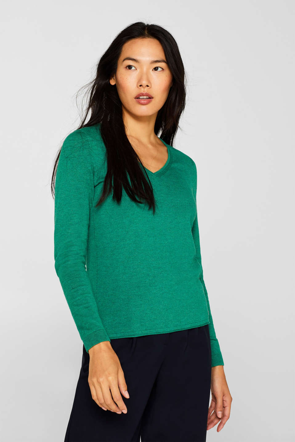 Sweaters, DARK GREEN 5, detail image number 0