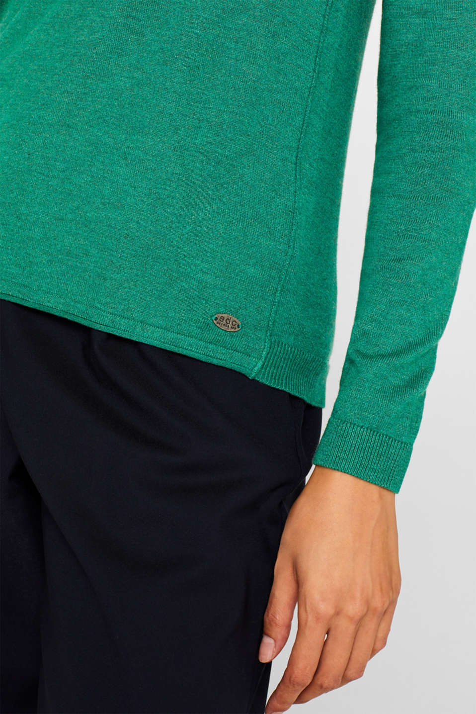 Sweaters, DARK GREEN 5, detail image number 2