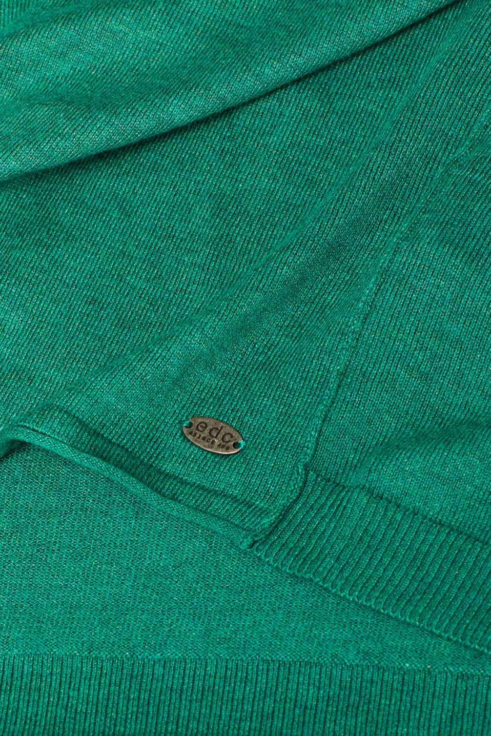 Sweaters, DARK GREEN 5, detail image number 4