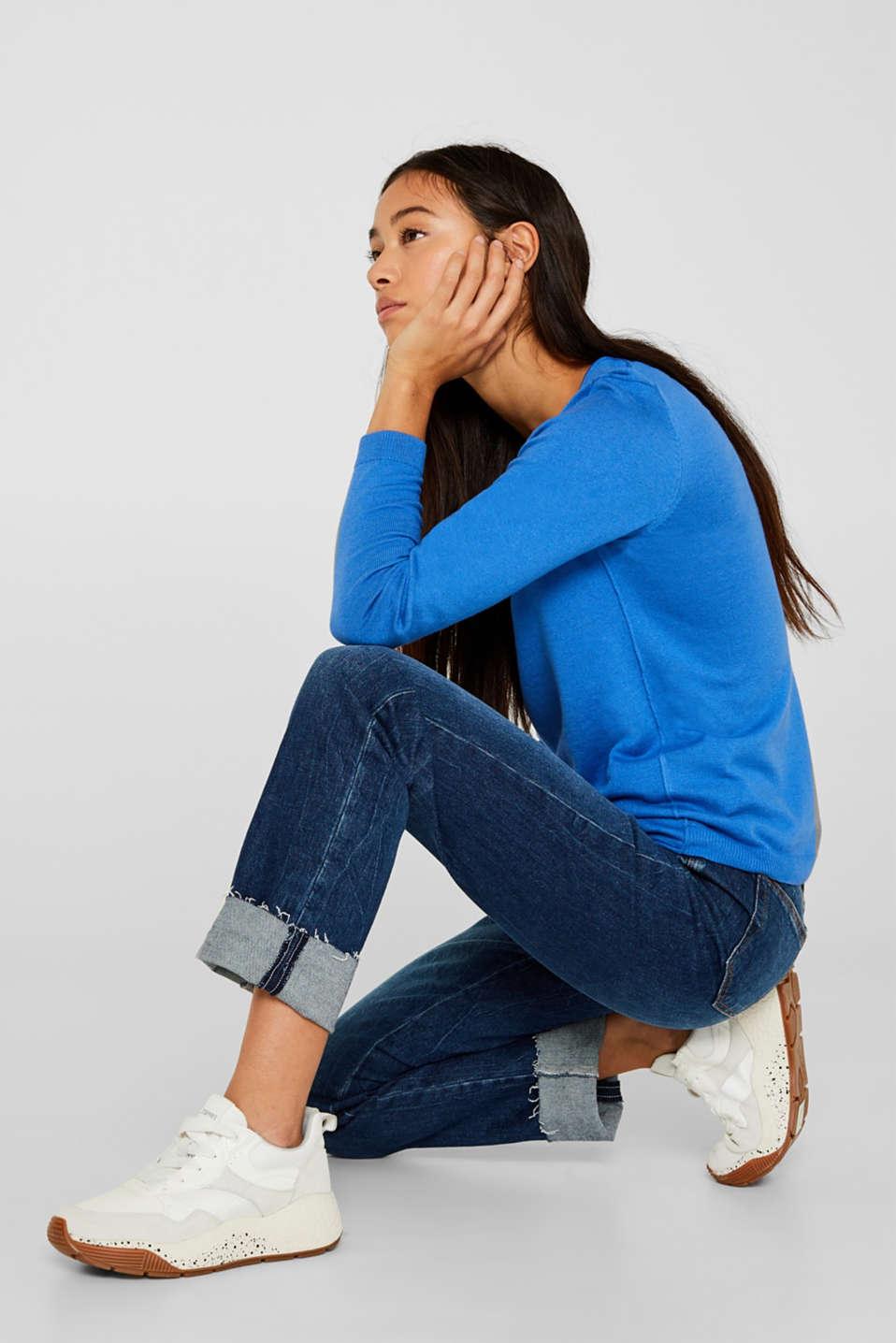 Jumper, organic cotton, BRIGHT BLUE, detail image number 5