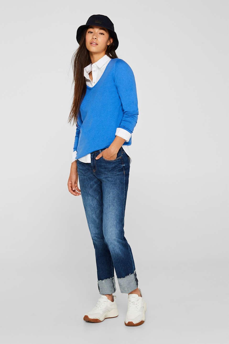 Jumper, organic cotton, BRIGHT BLUE, detail image number 1