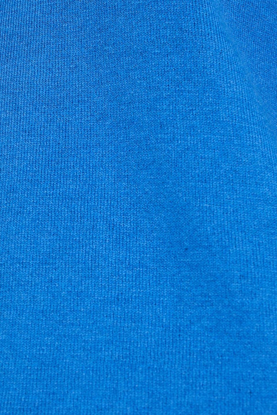 Jumper, organic cotton, BRIGHT BLUE, detail image number 4