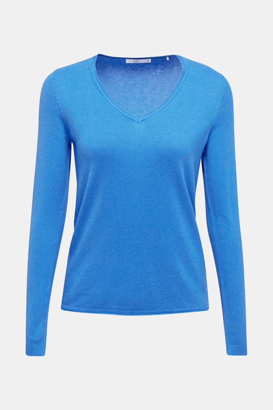 Jumper, organic cotton, BRIGHT BLUE, detail image number 6