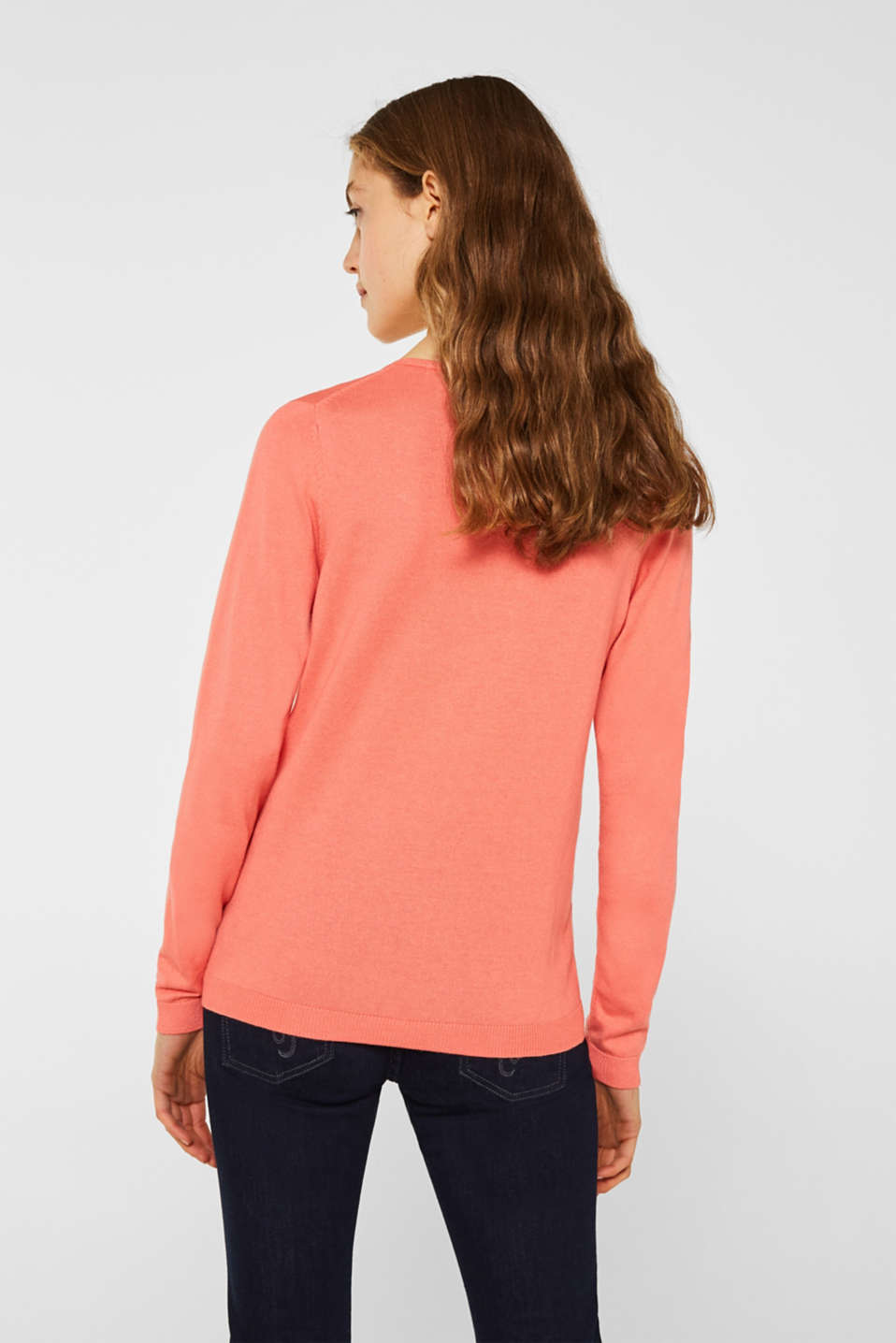 Jumper, organic cotton, CORAL, detail image number 3
