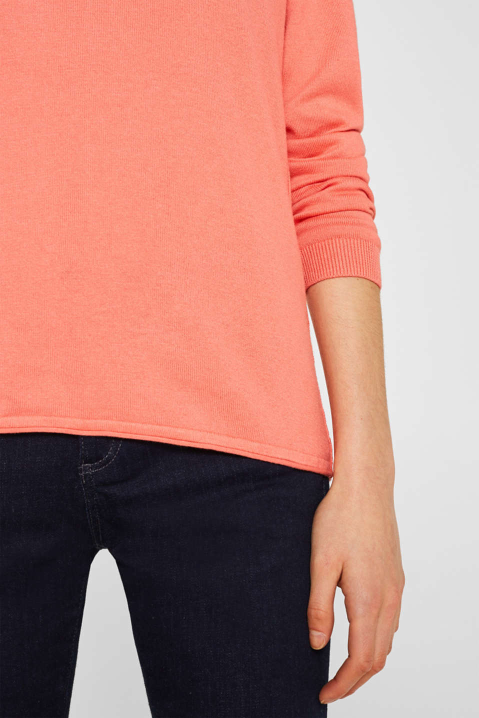Jumper, organic cotton, CORAL, detail image number 2