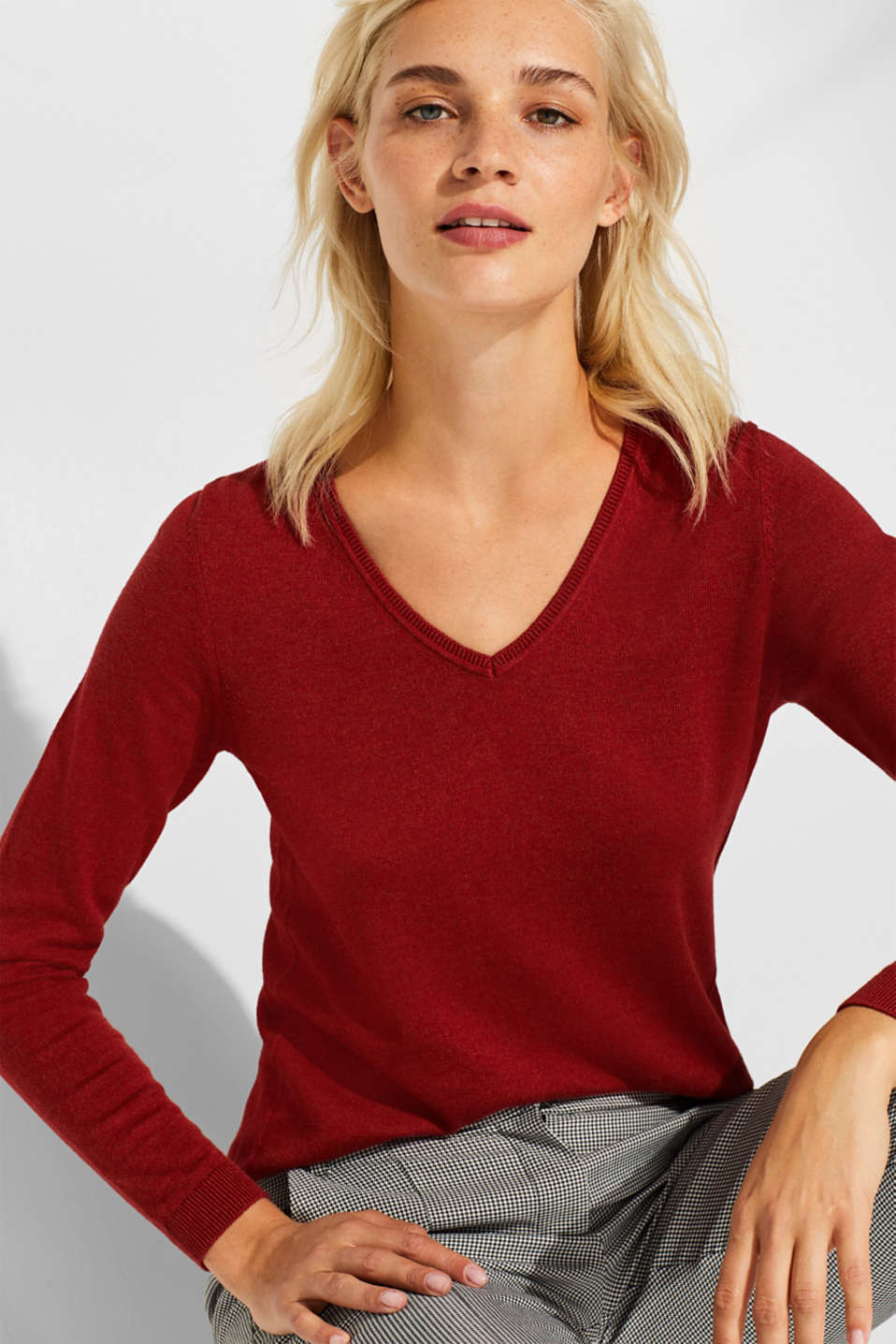 edc - Melange V-neck jumper