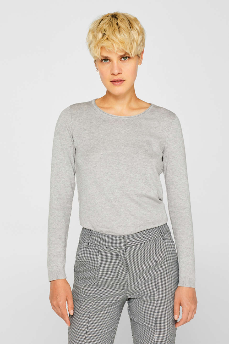 Melange jumper containing organic cotton