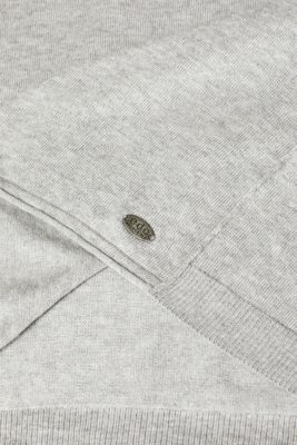 Melange jumper containing organic cotton, LIGHT GREY 5, detail