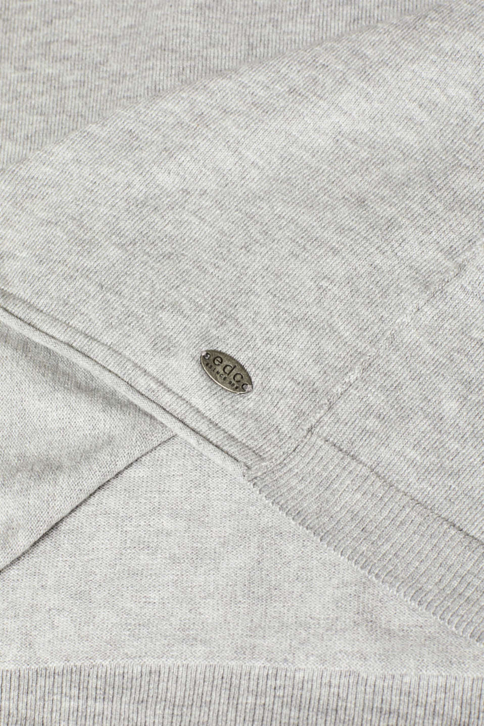 Melange jumper containing organic cotton, LIGHT GREY 5, detail image number 4