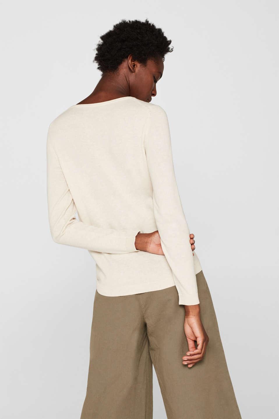 Melange basic jumper, SAND, detail image number 3