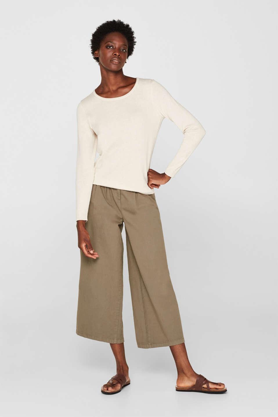 Melange basic jumper, SAND, detail image number 1
