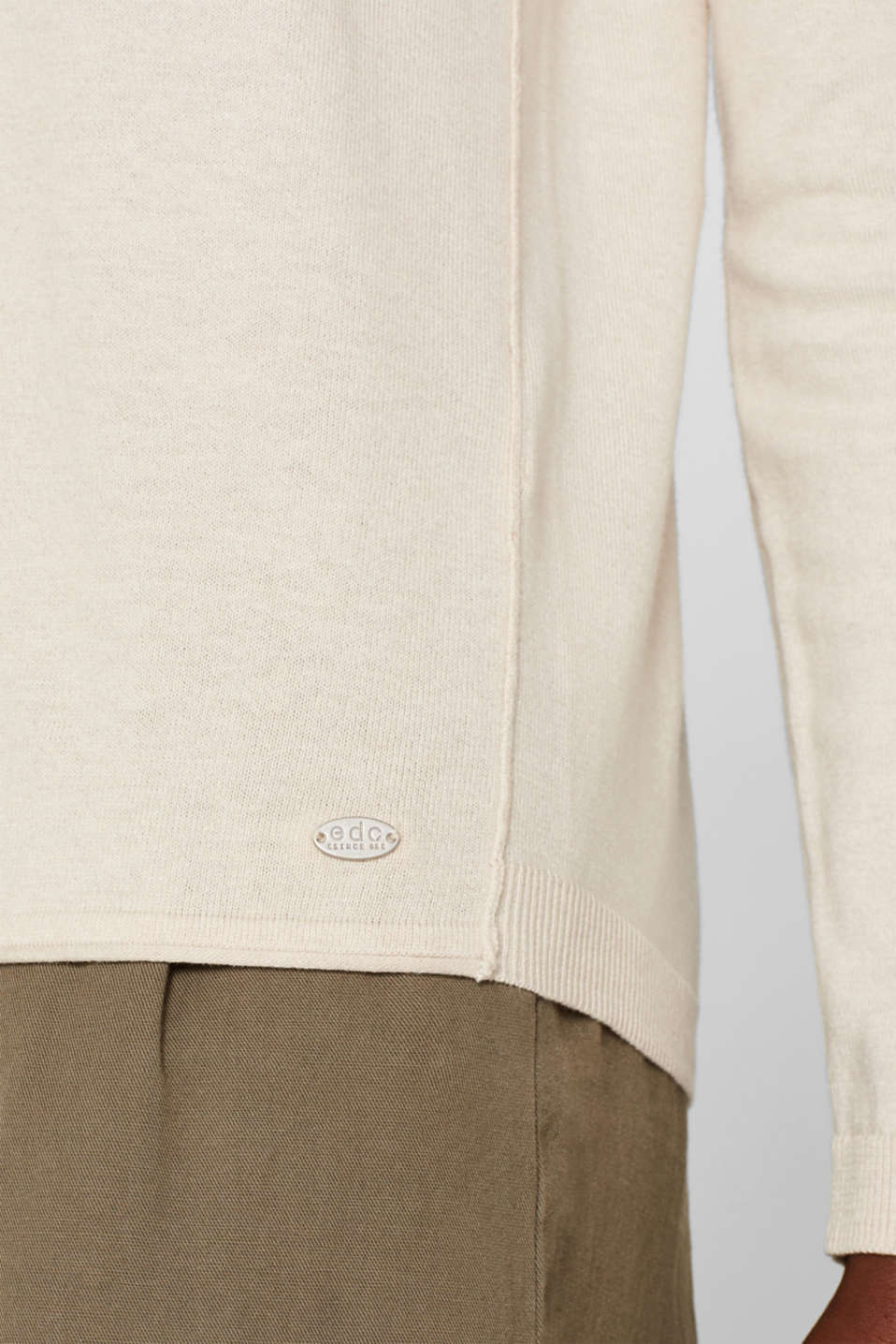 Melange basic jumper, SAND, detail image number 2
