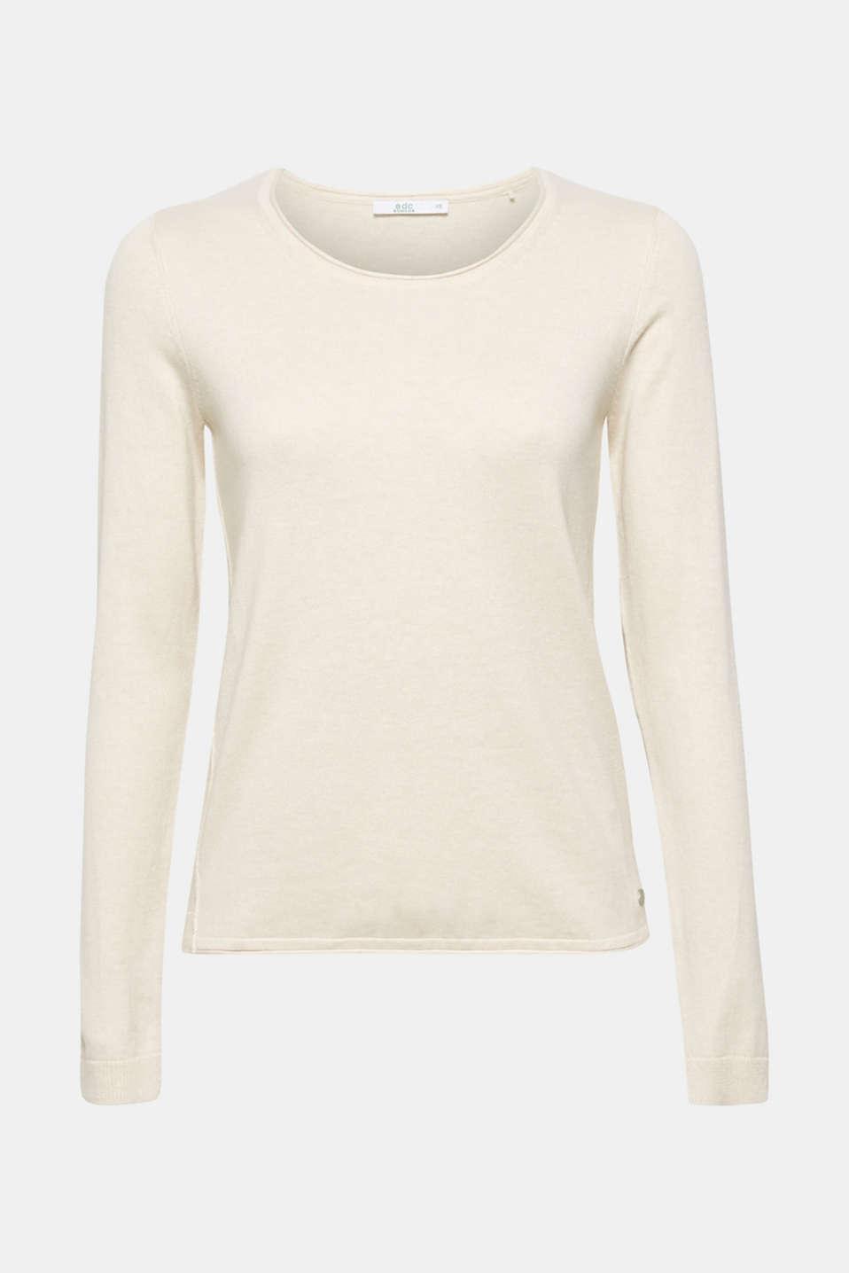 Melange basic jumper, SAND, detail image number 6