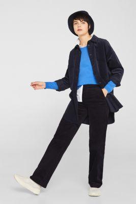 Melange jumper containing organic cotton, BRIGHT BLUE, detail