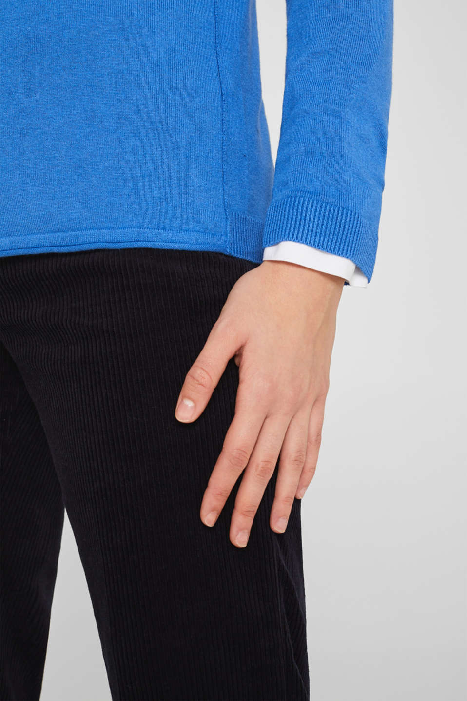 Sweaters, BRIGHT BLUE, detail image number 2