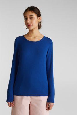 edc Melierter Pullover mit Organic Cotton im Online Shop