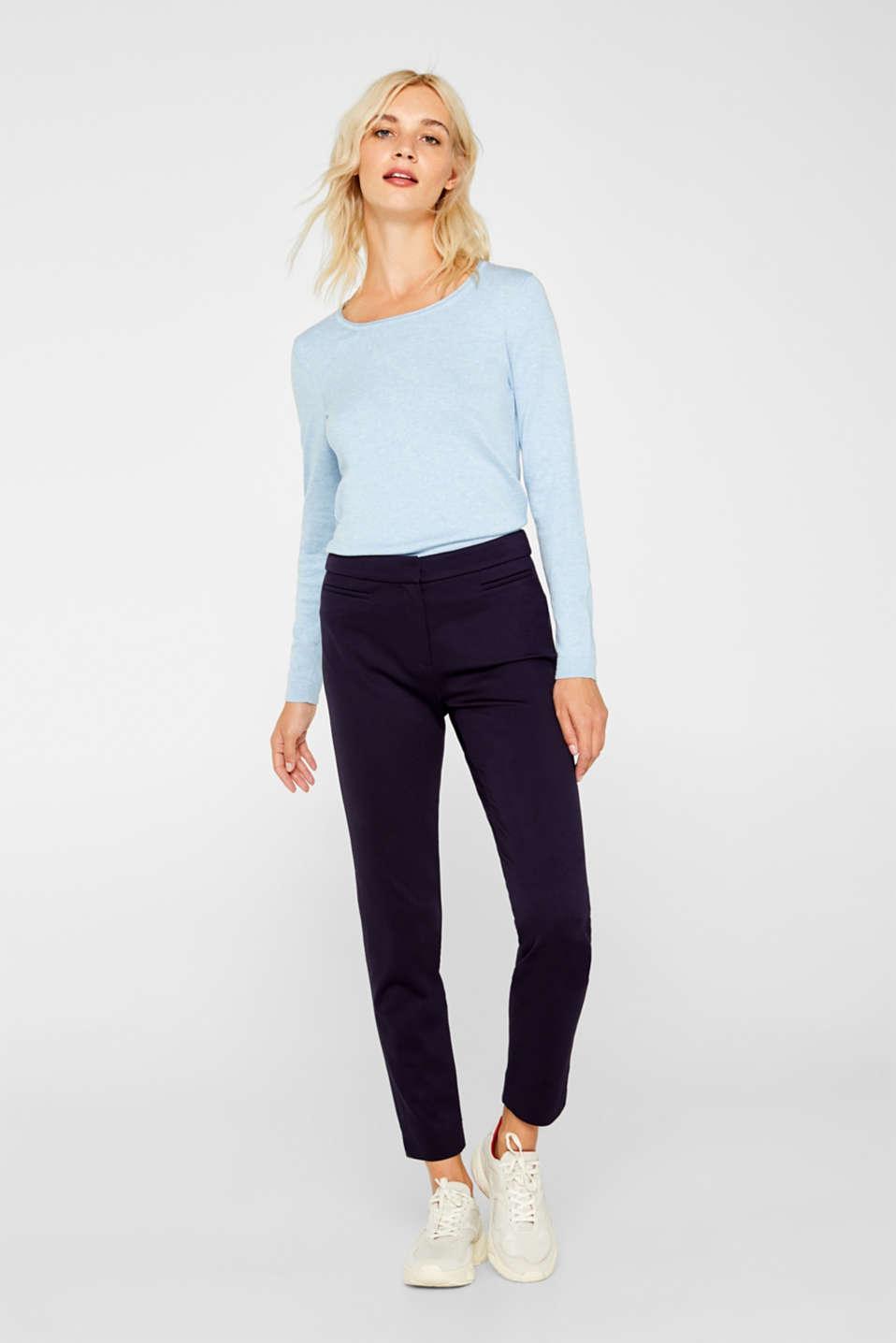 Melange basic jumper, LIGHT BLUE 5, detail image number 5