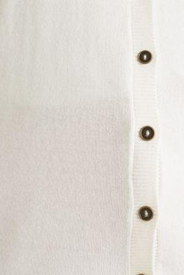 Round neck cardigan containing organic cotton, OFF WHITE, detail