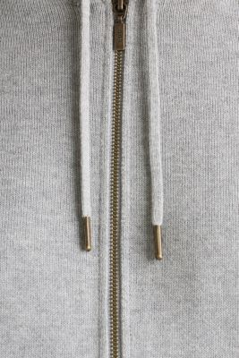 Knitted cardigan with organic cotton, LIGHT GREY 5, detail