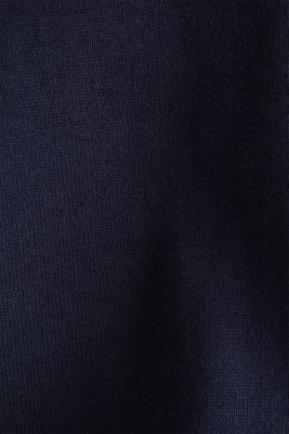 Knitted cardigan with organic cotton, NAVY, detail