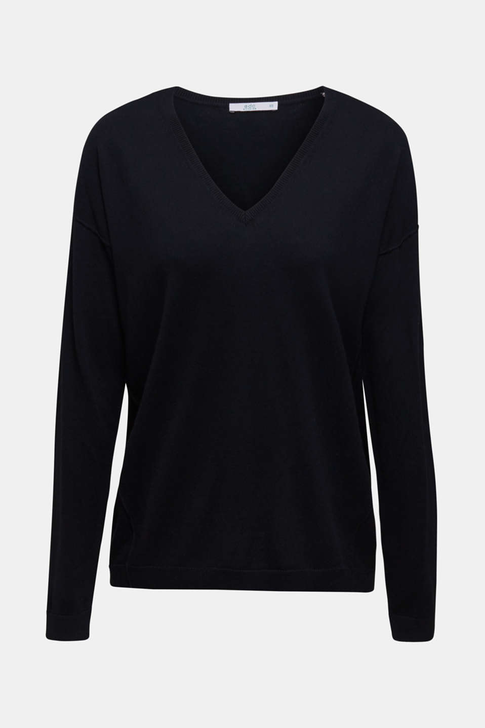 Jumper with inside-out seams, BLACK, detail image number 6