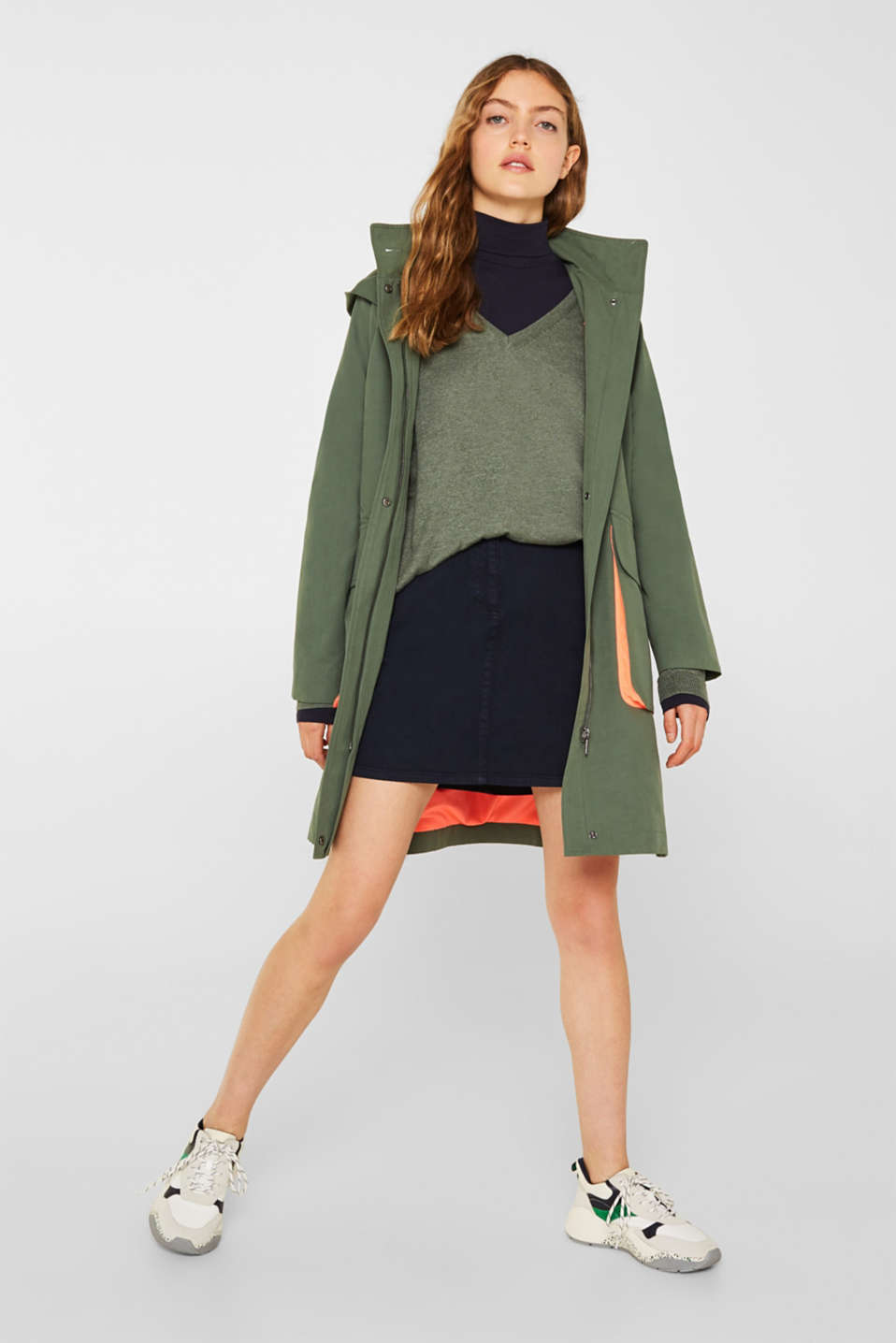Jumper with inside-out seams, KHAKI GREEN 5, detail image number 1
