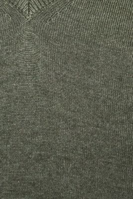 Jumper with inside-out seams, KHAKI GREEN 5, detail